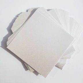 "25 Sheets x 12""x12"" Pearl White Card Stock, Double Sided, 250gsm Stiff Board"